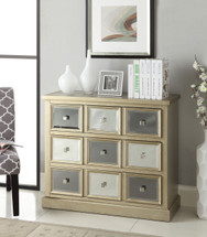 Bedroom Bombay Chest Silver/Gray