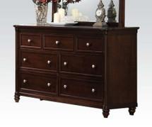 Amaryllis Traditional Seven Drawer Dresser in Cherry