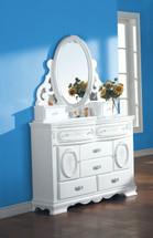 Flora Jewelry Mirror, White Finish