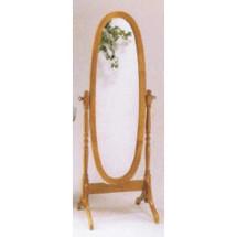 Fynn Cheval Mirror, Oak Finish