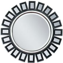 Accent Mirror Black Silver Finish