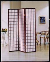 Naomi 3-Panel Wooden Screen, Cherry Finish