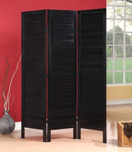 Trudy 3-Panel Wooden Screen, Black