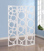 Trudy 3-Panel Wooden Screen, White