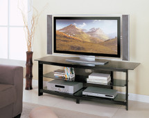 Horizon TV Stand, Black Powder Metal Finish