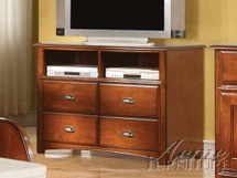 TV Console, Oak Finish