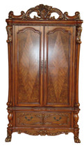 Dresden TV Armoire, Cherry Oak Finish