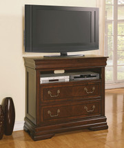 Hennessy TV Console in Brown Cherry