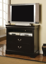 Louis Philippe III TV Console, Black