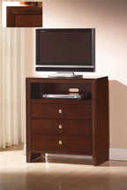 Ilana TV Console, Brown Cherry Finish