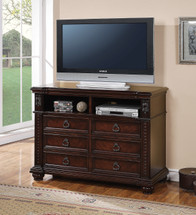 Daruka TV Console, Cherry Finish