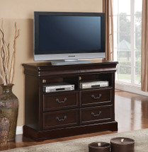 Roman Empire II TV Console, Dark Cherry Finish