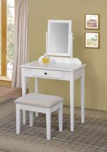 Jamy Vanity Set in White