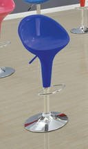 Chic Modern Blue Finish Adjustable Bar Chair (Set Of 2)