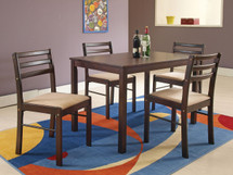 5-Piece Parkwood Dining Table Set, Cappucino Finish