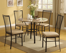 5-Piece Darell Faux Marble Top Dining Set