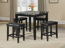 5 pc counter height dining table set