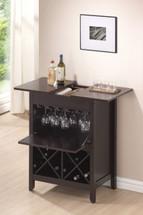 Leo Wine Bar Cabinet Set, Wenge Finish