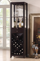 Casey Wine Cabinet Set, Wenge Finish