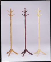 Set of 4 Grady Coat Rack, Oak Finish