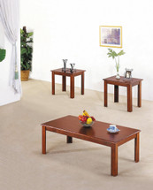 3-Piece Meridian Coffee/End Table Set, Cherry Finish