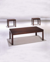 3-Piece Java Coffee/End Table Set, Cherry Finish