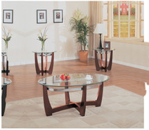 3-Piece Brea Coffee/End Table Set, Cherry Finish