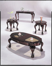 3-Piece Canebury Coffee/End Table Set, Cherry Finish