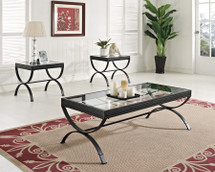 3-Piece Quintin Coffee/End Table Set, Black