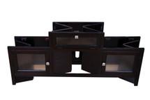 Jupiter Folding TV Stand, Espresso Finish