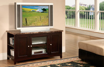 Finely Faux Marble Top TV Stand, Espresso Finish