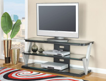 Bardick TV Stand w/ Clear Tempered Glass Top