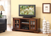 Cherry Finish TV Stand With 2 Cabinets