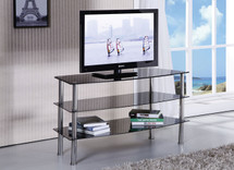 Chic Modern Black Tempered Glass TV Stand