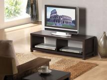 Chic Modern Espresso Finish TV Stand