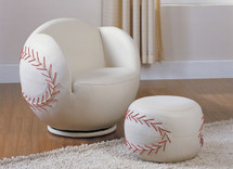 2-Piece All Star Set Chair and Ottoman, Baseball