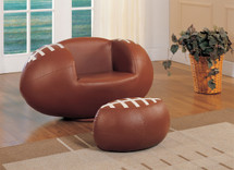 2-Piece All Star Football Chair and Ottoman Set