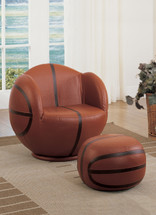 2-Piece All Star Set Chair and Ottoman, Basketball
