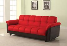 Achava Adjustable Sofa, Red Finish