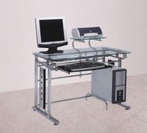 Felix Computer Desk, Silver