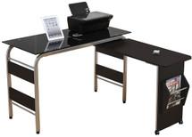 Garion Black Tempered Glass Finish Computer Desk
