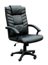 Chesterfield Leather Match Pneumatic Lift Office Chair