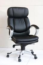 Minta Pneumatic Lift Office Chair, Black Bycast Polyurethane Finish