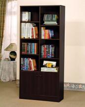 Verden Book Shelf Cabinet, Espresso Finish