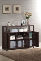 Hill Cabinet with Three Doors, Espresso Finish