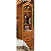 Tree House Book Shelf Cabinet, Rustic Oak Finish