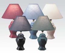6-Color Ceramic Table Lamp Set