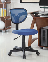 OFFICE CHAIR, BLU21WX19.7 5DX31.25-35.75H