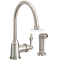 Wellington Kitchen Faucet Single Handle Brushed Nickle with Matching Spray Teapot-Style