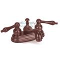 Wellington Lavatory Faucet Two Handle Centerset Oil Rubbed Bronze Ceramic Disc Teapot Style Handles